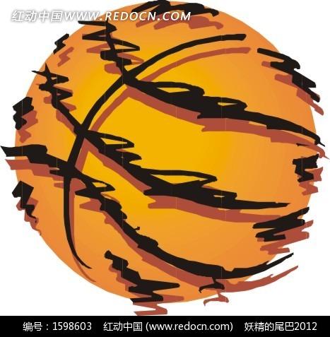 素材下载 矢量素材 生活百科 体育运动 > 手绘篮球