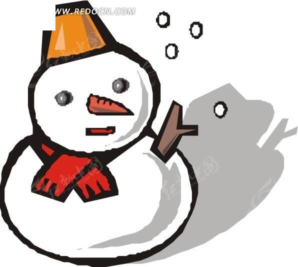 手绘可爱的雪人