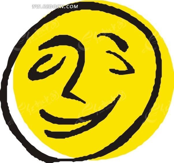手绘笑脸矢量图_生活用品
