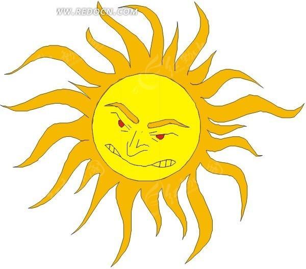 太阳 手绘