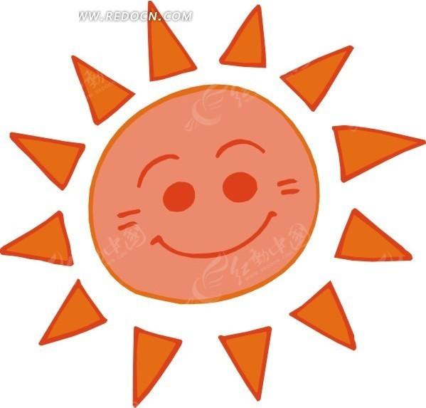 高清图 手绘太阳标志