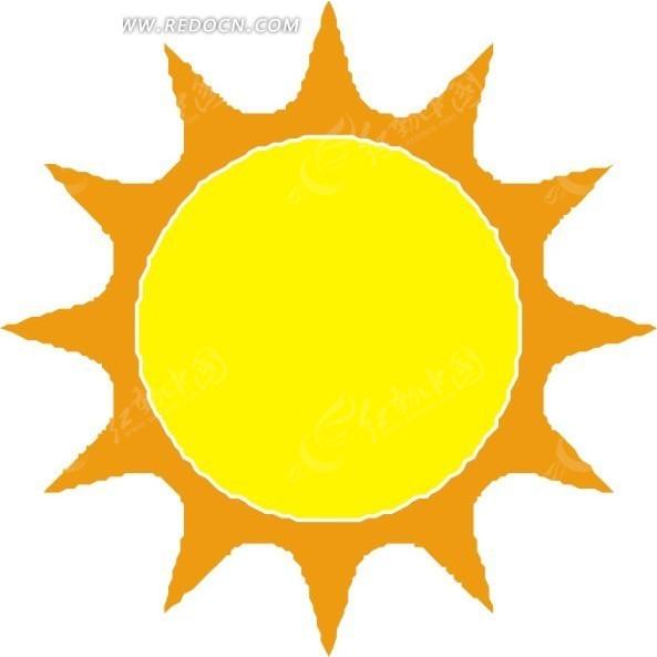 手绘黄色的太阳