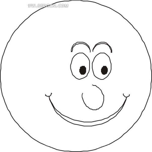 简笔画笑脸笑脸-笑脸EPS素材免费下载 编号1591397 红动网