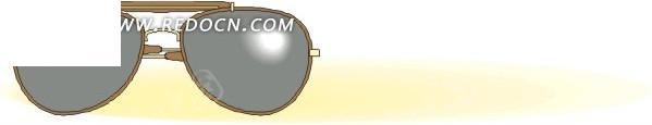 手绘太阳镜eps免费下载_生活用品素材