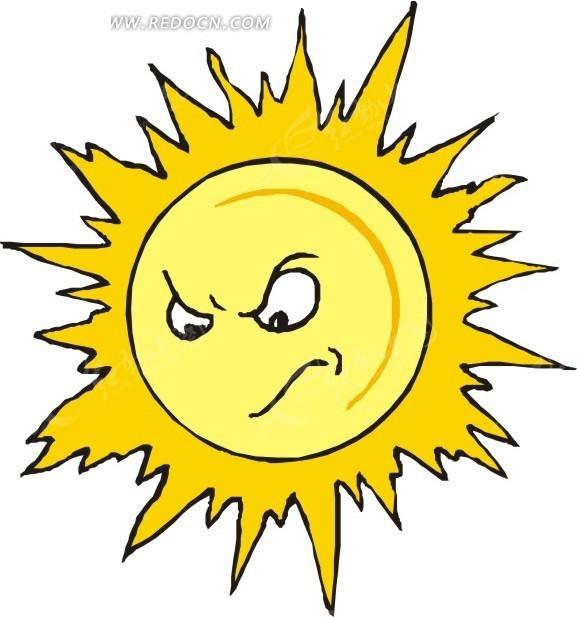 卡通太阳矢量图_生活用品