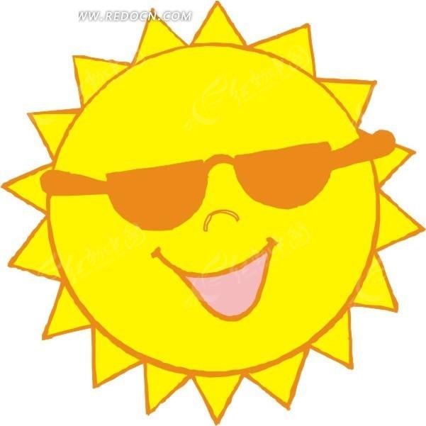 可爱的黄色太阳