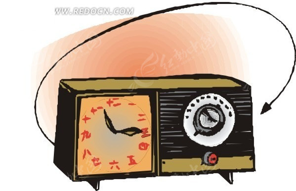 手绘收音机