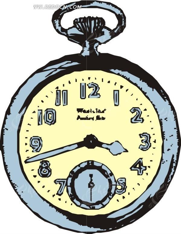 漫画秒表矢量图_生活用品