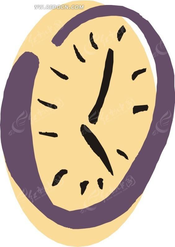 简单手绘时钟图片