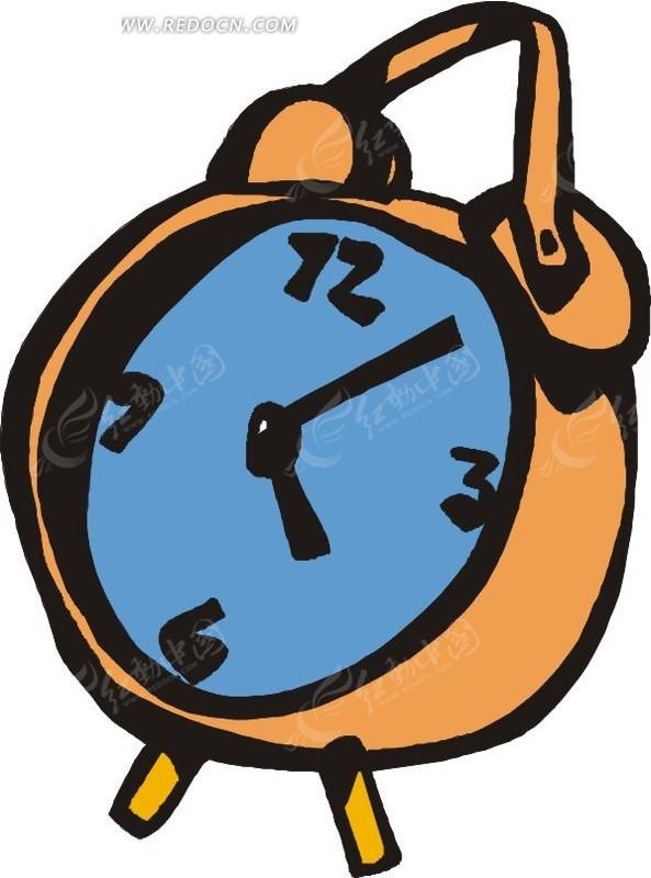 动漫关闹钟图片-简单手绘闹钟矢量图