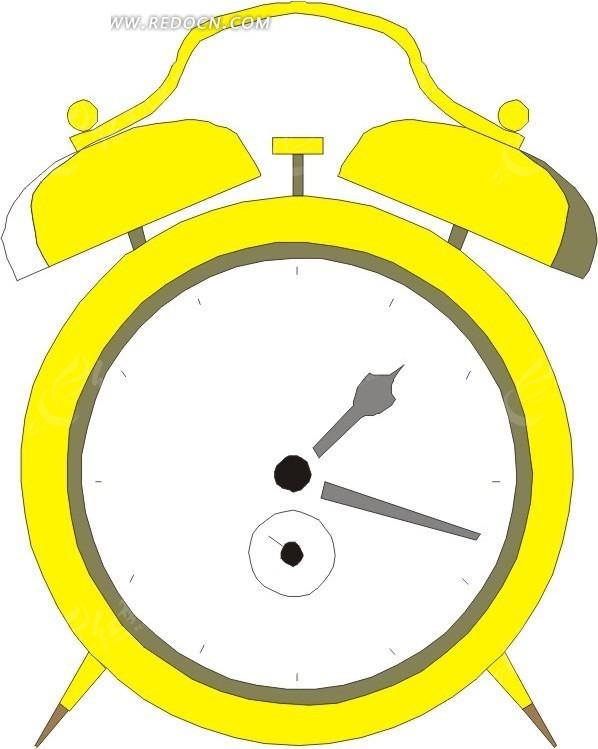 黄色闹钟插画图片