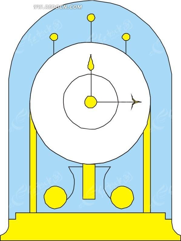 电磁摆钟电路图