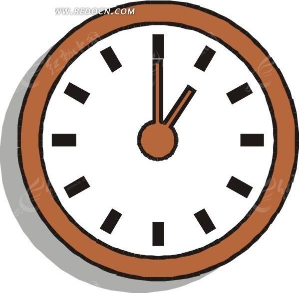 手绘钟表一点整