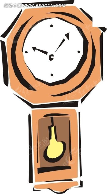 手绘钟表矢量图_生活用品