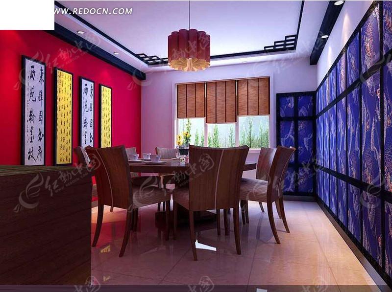 现代化简洁餐厅包厢设计效果图高清图片