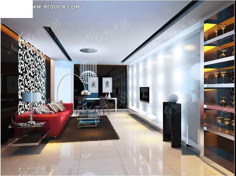 现代创意客厅设计效果图
