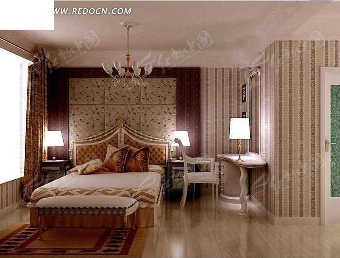 别墅欧式风格客房设计效果图