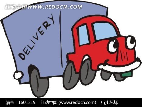 手绘箱式货车
