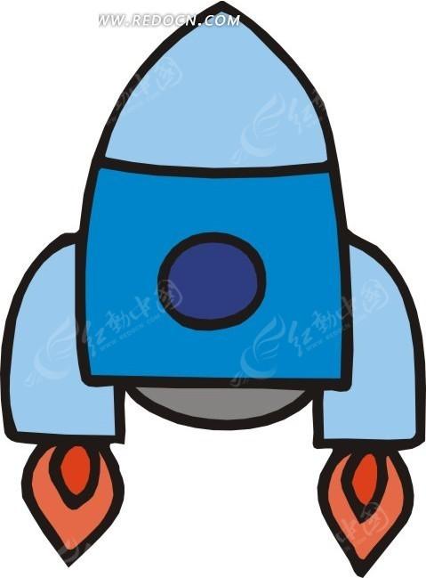 手绘火箭图片