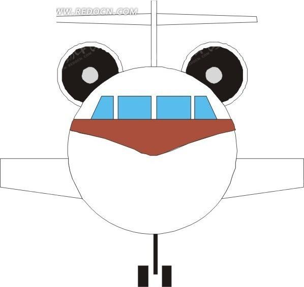飞机的正面手绘素材