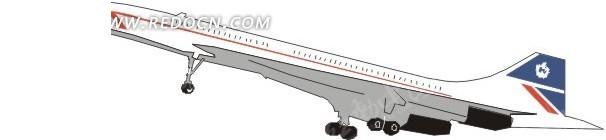 手绘起飞的白色飞机