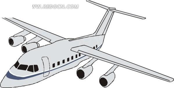白色民航飞机图片
