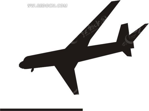 飞机俯冲剪影图片