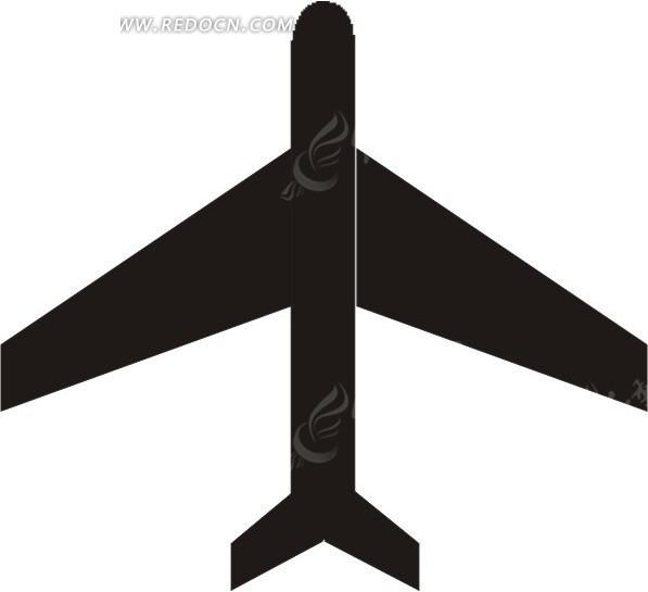 飞机剪影 飞机 剪影 eps素材