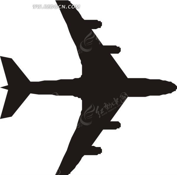 飞机 剪影 航空器 生活百科