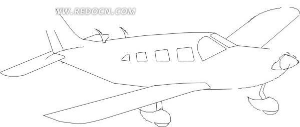 飞机 卡通画 插画