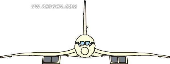 手绘彩色飞机头部