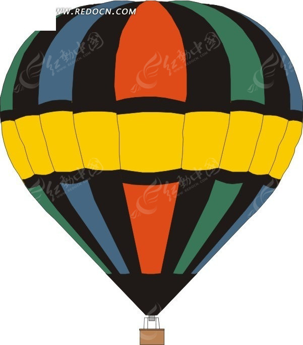 一个热气球手绘素材