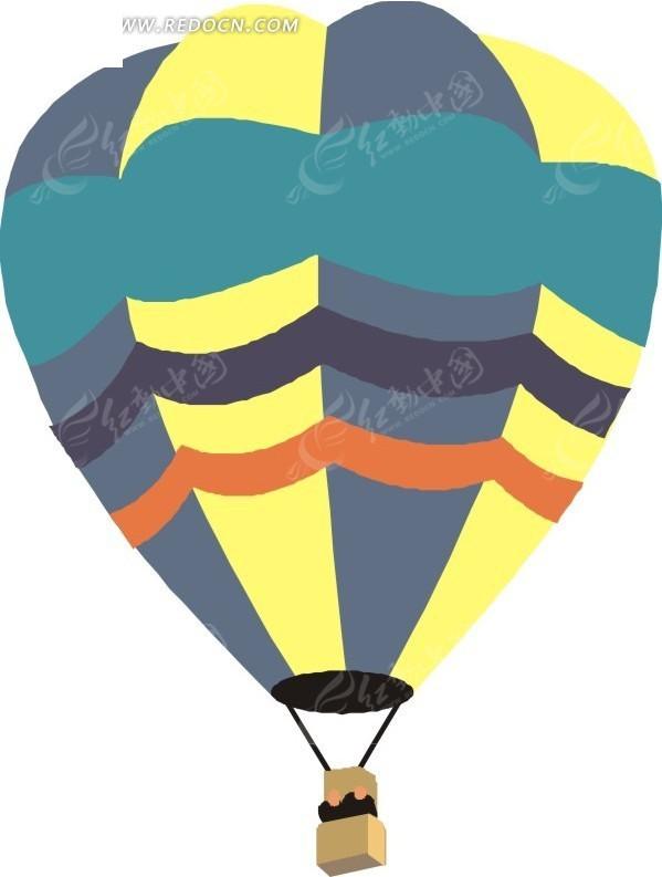 热气球 交通工具 卡通画 插画 手绘 矢量素材 卡通形象 科技图片