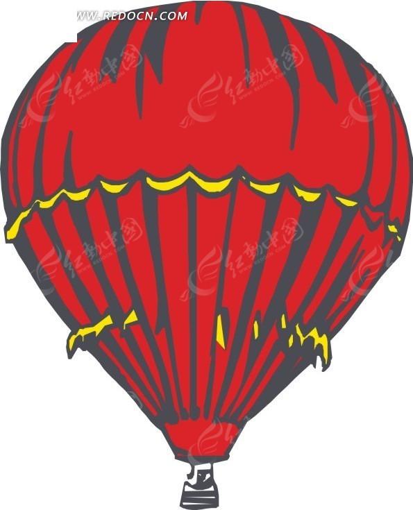 红色飞机图片素材