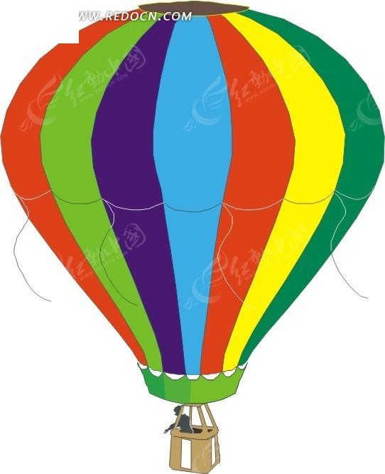 卡通热气球插画
