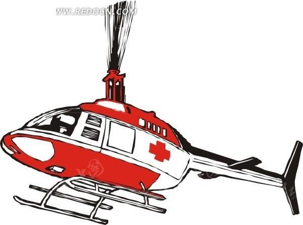 卡通救护直升机图片