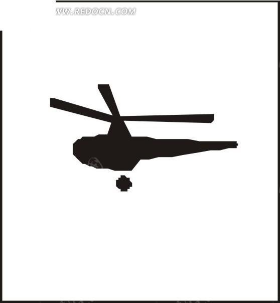 直升飞机剪影图片