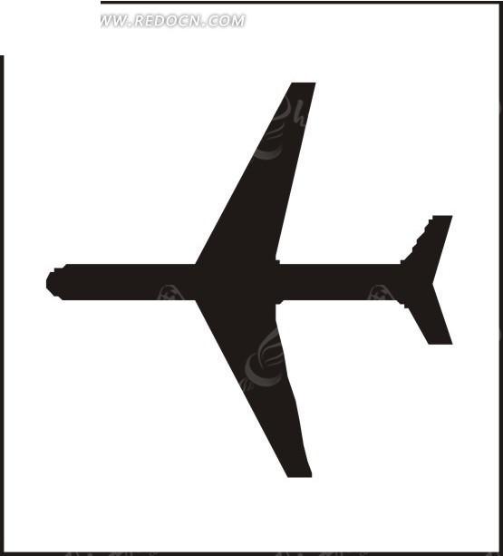 飞机剪影图案图片