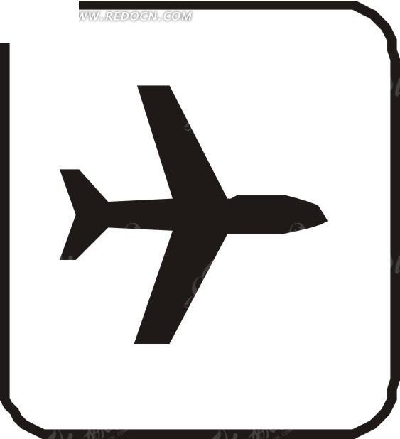 飞机剪影图形图片
