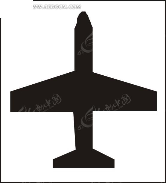航空飞机剪影矢量图免费下载