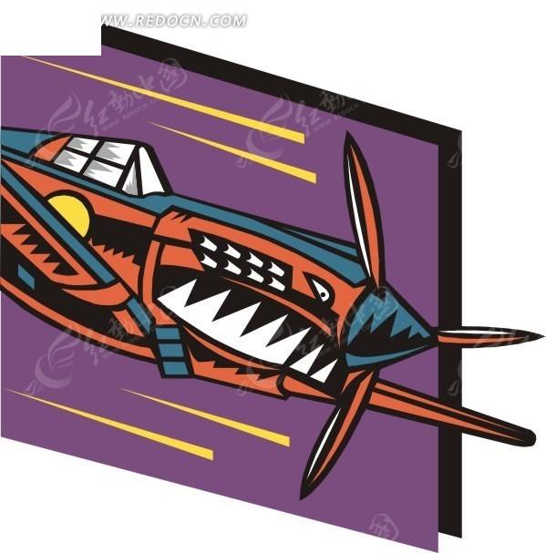 手绘飞机插画