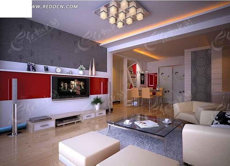 现代风格创意客厅设计效果图