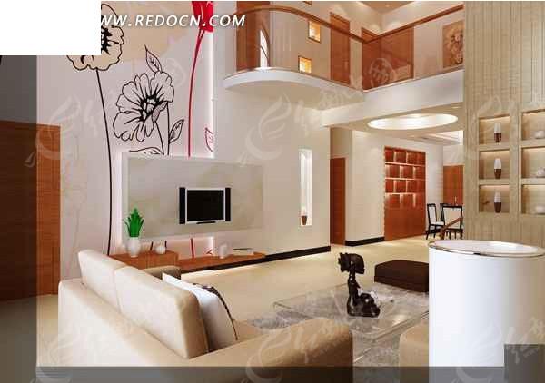 现代创意型客厅设计效果图