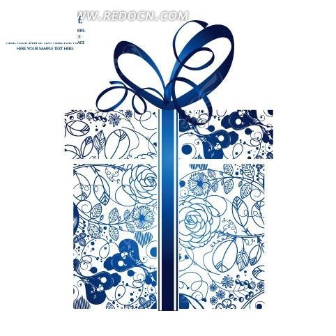 手绘精美叶蔓花纹礼物盒