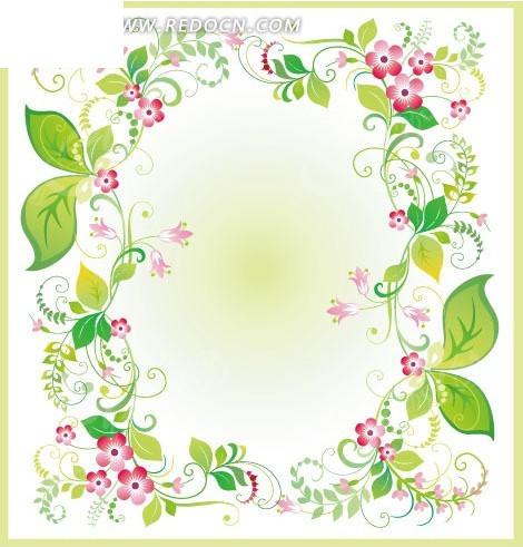 花朵叶子藤蔓背景素材