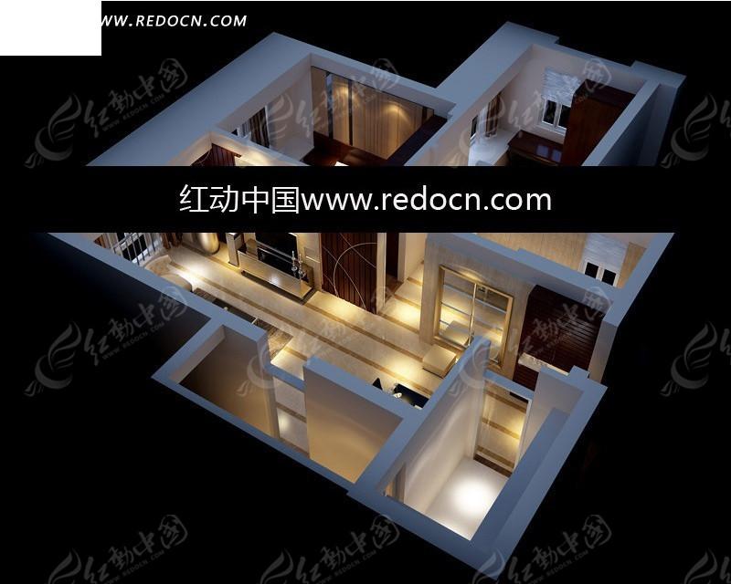 免费素材 3d素材 3d模型 室内设计 室内设计三维效果图全套  请您分享