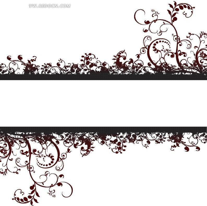 藤蔓植物 矢量花纹 手绘花纹 潮流 花样 纹样 图案 抽象 花卉 植物