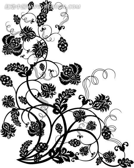 手绘欧式花卉藤蔓图片
