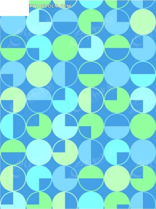 几何形构成的蓝色矢量图案
