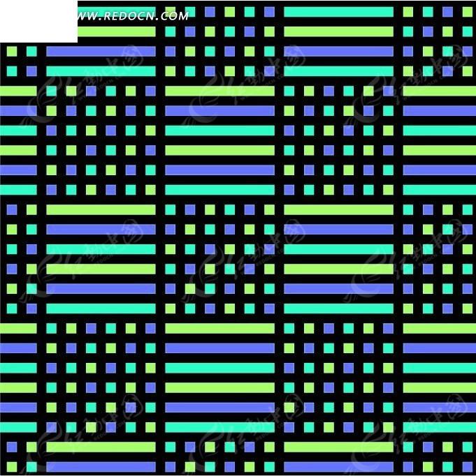 线条和格子构成的连续纹样